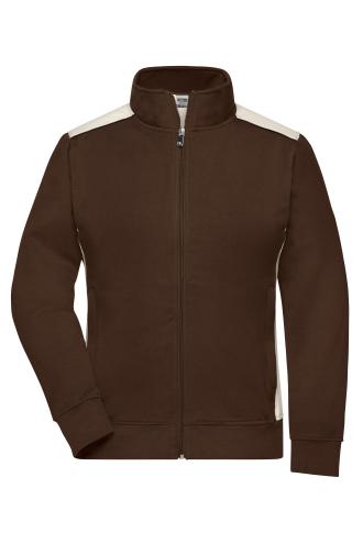 Ladies Workwear Sweat Jacket - COLOR - brown/stone