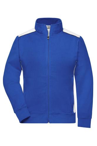 Ladies Workwear Sweat Jacket - COLOR - royal/white