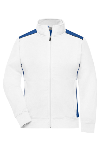 Ladies Workwear Sweat Jacket - COLOR - white/royal