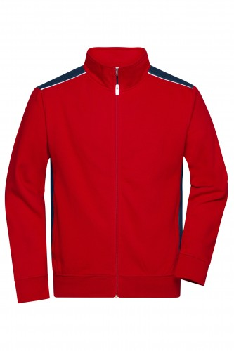 Mens Workwear Sweat Jacket - COLOR - red/navy