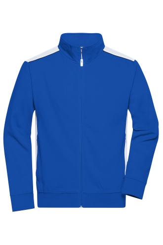 Mens Workwear Sweat Jacket - COLOR - royal/white