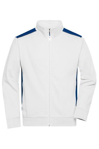 Mens Workwear Sweat Jacket - COLOR - white/royal