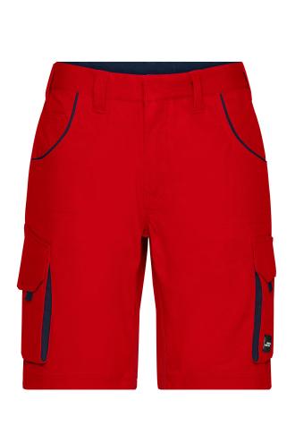 Workwear Bermudas - COLOR - red/navy