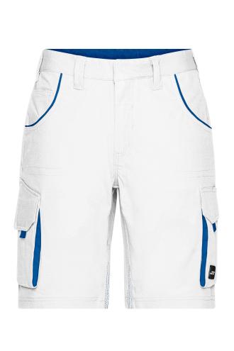Workwear Bermudas - COLOR - white/royal