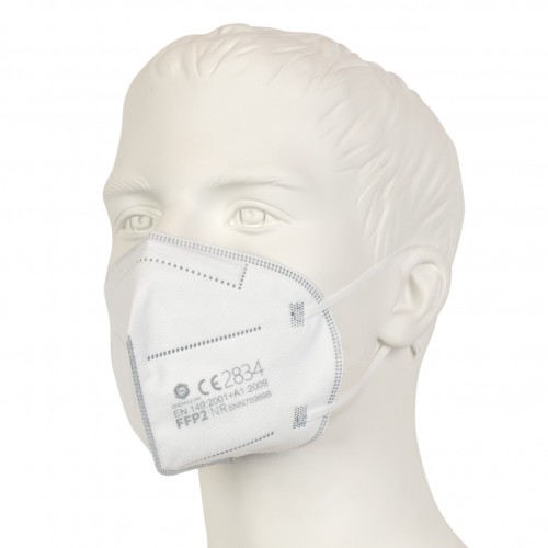 FFP2 Mundschutz - Feinstaubmaske - Weiss - CE Zertifiziert