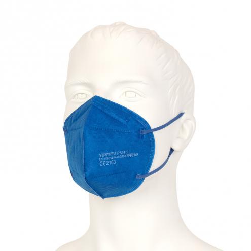 FFP2 Mundschutz - Feinstaubmaske - Blau - CE Zertifiziert