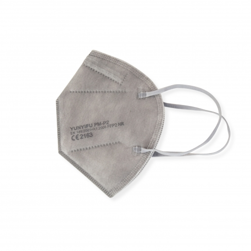 FFP2 Mundschutz - Feinstaubmaske - Grau - CE Zertifiziert