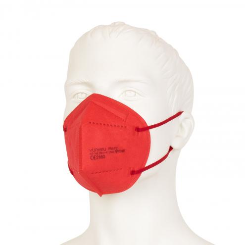 FFP2 Mundschutz - Feinstaubmaske - Rot - CE Zertifiziert