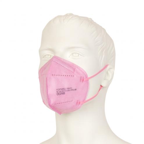 FFP2 Mundschutz - Feinstaubmaske - Rosa - CE Zertifiziert