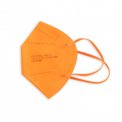 FFP2 Mundschutz - Feinstaubmaske - Orange - CE Zertifiziert