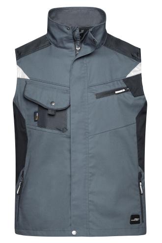 Workwear Vest - STRONG - carbon/black