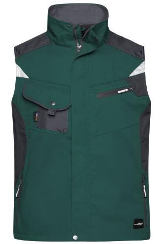 Workwear Vest - STRONG - dark-green/black