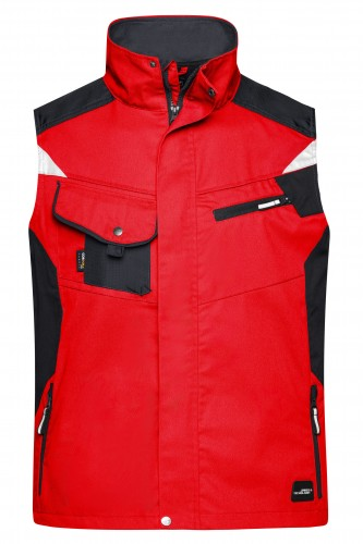 Workwear Vest - STRONG - red/black