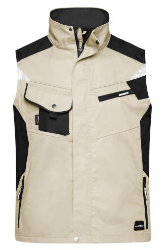 Workwear Vest - STRONG - stone/black