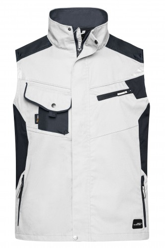Workwear Vest - STRONG - white/carbon