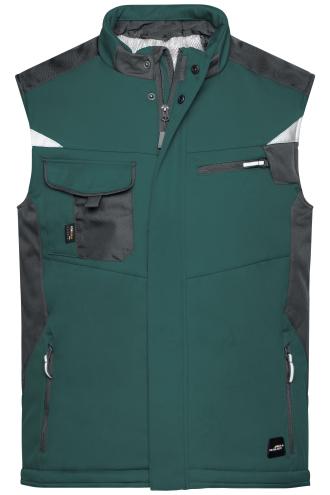 Craftsmen Softshell Vest - STRONG - dark-green/black