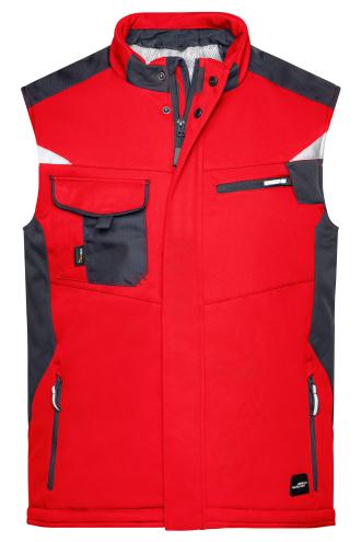 Craftsmen Softshell Vest - STRONG - red/black