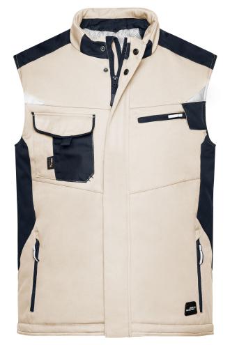 Craftsmen Softshell Vest - STRONG - stone/black