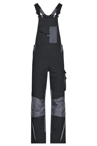 Workwear Pants with Bib - STRONG - black/carbon