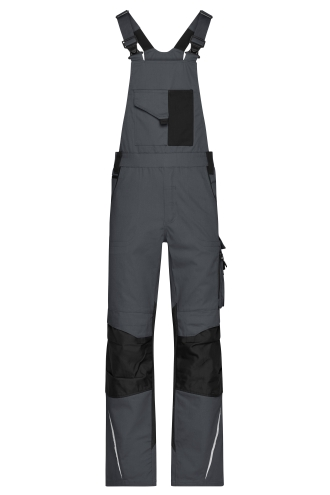 Workwear Pants with Bib - STRONG - carbon/black