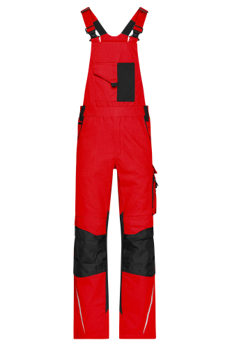 Workwear Pants with Bib - STRONG - red/black
