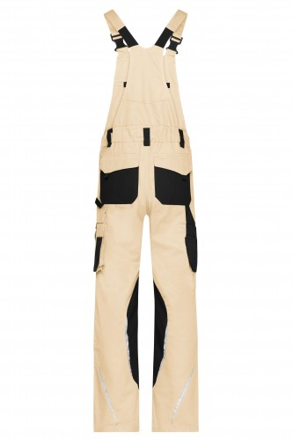 Workwear Pants with Bib - STRONG - stone/black