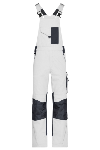 Workwear Pants with Bib - STRONG - white/carbon