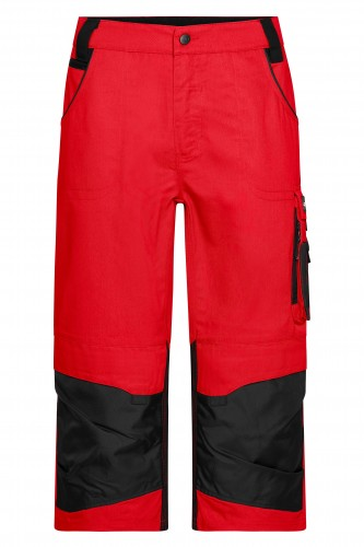 Workwear 3/4 Pants - STRONG - red/black