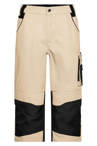 Workwear 3/4 Pants - STRONG - stone/black