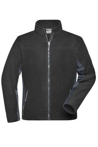 Mens Workwear Fleece Jacket - STRONG - black/carbon