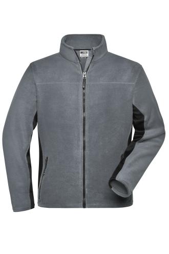 Mens Workwear Fleece Jacket - STRONG - carbon/black