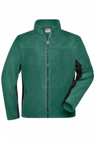 Mens Workwear Fleece Jacket - STRONG - dark-green/black