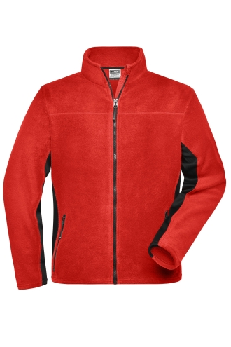 Mens Workwear Fleece Jacket - STRONG - red/black