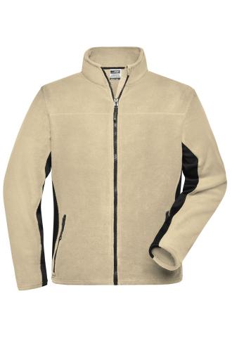 Mens Workwear Fleece Jacket - STRONG - stone/black