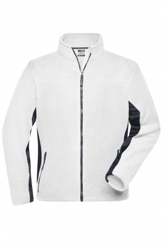 Mens Workwear Fleece Jacket - STRONG - white/carbon
