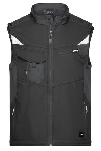 Workwear Softshell Vest - STRONG - black/black