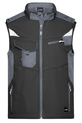 Workwear Softshell Vest - STRONG - black/carbon
