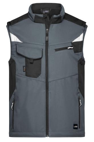 Workwear Softshell Vest - STRONG - carbon/black