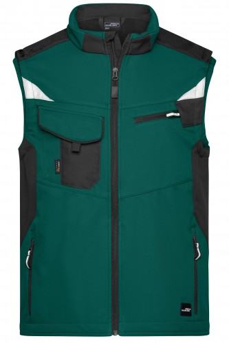 Workwear Softshell Vest - STRONG - dark-green/black