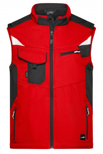 Workwear Softshell Vest - STRONG - red/black
