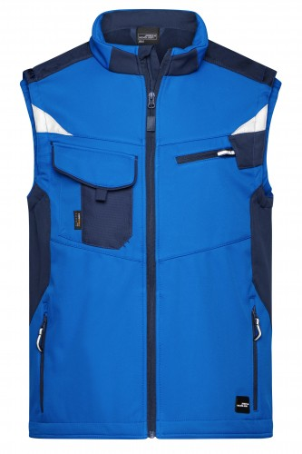 Workwear Softshell Vest - STRONG - royal/navy