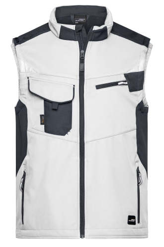 Workwear Softshell Vest - STRONG - white/carbon