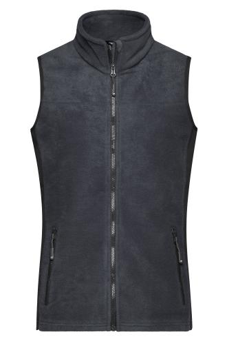 Ladies Workwear Fleece Vest - STRONG - carbon/black