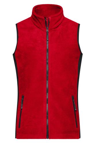 Ladies Workwear Fleece Vest - STRONG - red/black
