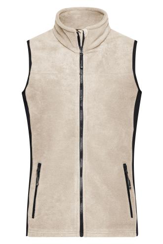 Ladies Workwear Fleece Vest - STRONG - stone/black