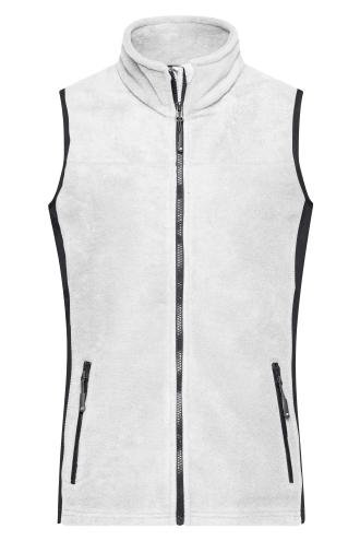Ladies Workwear Fleece Vest - STRONG - white/carbon