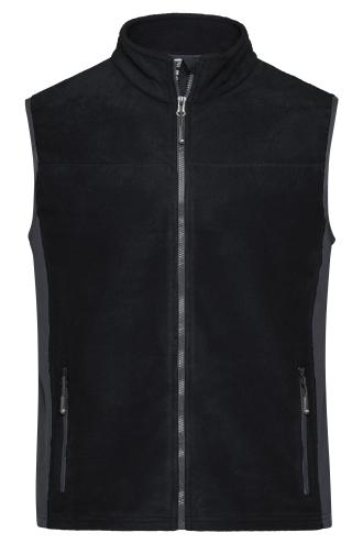 Mens Workwear Fleece Vest - STRONG - black/carbon