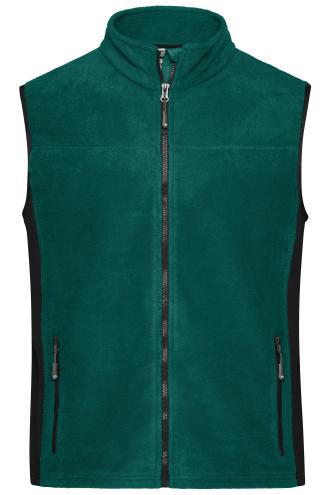 Mens Workwear Fleece Vest - STRONG - dark-green/black