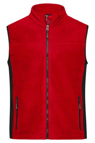 Mens Workwear Fleece Vest - STRONG - red/black