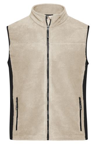 Mens Workwear Fleece Vest - STRONG - stone/black